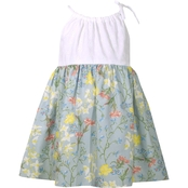 Bonnie Jean Infant Girls Eyelet to Wallpaper Dress