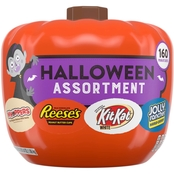Hershey's Snack Size Halloween Chocolate Candy in Pumpkin Bowl 41.2 oz., 175 ct.