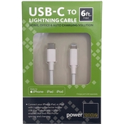 USB Type C to Lightning Cable 6ft White
