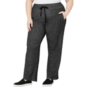 Avenue Plus Size Marled Drawstring Active Pants