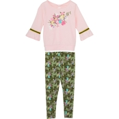 Gumballs Infant Girls Jersey Almond Floral Top and Leggings 2 pc. Set