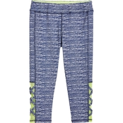 Gumballs Infant Girls Active Striated Capri Pants with Mesh