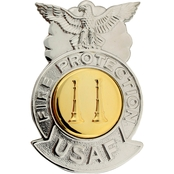 Air Force Fire Captain Badge, Mirror Finish, Regular Size