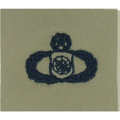 Air Force Master Weapons Control Badge, Subdued Sew-On (ABU)