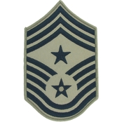 Air Force Command Chief Master Sergeant (CCM) Subdued Sew-On Chevron (ABU)