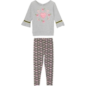 Gumballs Toddler Girls Jersey Almond Floral Top and Leggings Set