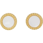 Vince Camuto Goldtone Button Stud Earrings