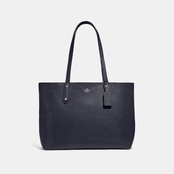 COACH WOMEN'S CENTRAL TOTE WITH ZIP TOP BLACK