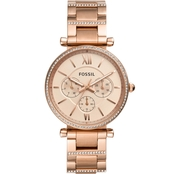 Carlie Multifunction Rose Gold-Tone Stainless Steel Watch