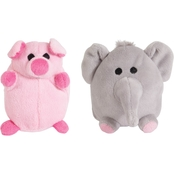 Petmate Mini Elephant and Pig Dog Toy 2 pk.