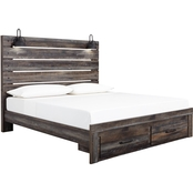 Signature Design by Ashley Drystan Panel Bed with Footboard Storage
