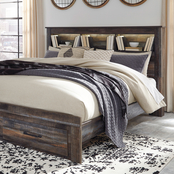 Signature Design by Ashley Drystan Bookcase Headboard Bed with Storage Footboard