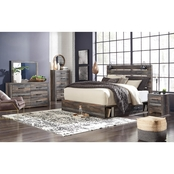 Signature Design by Ashley Drystan Panel Bed with One Side Storage 5 pc. Set