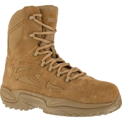 Reebok Men's Rapid Response RB8850 Imported Coyote Side Zip Comp Toe Military Boot