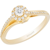 Disney Enchanted 10K Two Tone 1/3 CTW Diamond Tinker Belle Ring Size 7