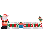 Gemmy Airblown Merry Christmas Sign Scene Large