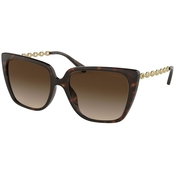 COACH Square Dark Tortoise / Smoke Gradient Sunglasses 0HC8256U512013