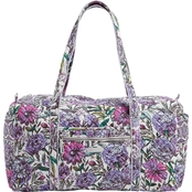 Vera Bradley Large Duffel Signature Cotton, Lavender Meadow