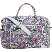 Vera Bradley Weekender Travel Bag Signature Cotton, Lavender Meadow