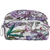 Vera Bradley Mini Cosmetic Signature Cotton with PVC Lining, Lavender Meadow