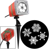 Gemmy Holiday Whirl a Motion Ornate Snow Flurry Lightshow Projection