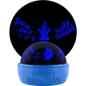 Christmas Lightshow Projection-Tabletop Shadow Lights-Frosty-WB (Blue)