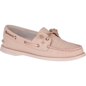 Sperry Women's Authentic Original 2 Eye Vida Croco Nubuck Boat Shoes
