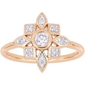 Diamore 10K Rose Gold 1/3 CTW Diamond Floral Ring