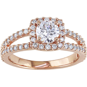 Diamore 14K Rose Gold 1 CTW Diamond Halo Engagement Ring