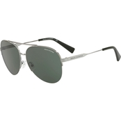 Armani Exchange Pilot Gunmetal / Green Sunglasses 0AX2020S600371