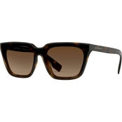 Burberry Square Dark Havana / Brown Gradient Sunglasses