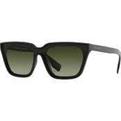 Burberry Square Black / Green Gradient Sunglasses 0BE427930081E
