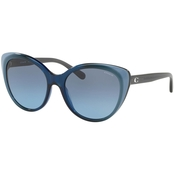 COACH CAT EYE BLUE LAMINATE / GRAY BLUE GRADIENT SUNGLASSES