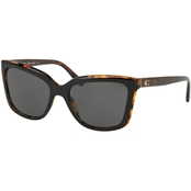 COACH Square Black/Tortoise / Dark Gray Solid Sunglasses 0HC8261544687