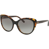 COACH CAT EYE BLACK/TORTOISE / GRAY GRADIENT SUNGLASSES