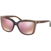COACH Square Laminate Mirror Sunglasses