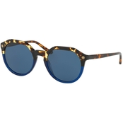 Tory Burch Round Logo Temple Sunglasses TY7130