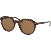 Tory Burch Round Logo Temple Polarized Sunglasses TY7130
