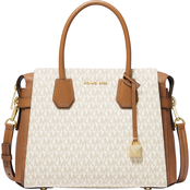 Michael Kors Mercer Medium Logo Belted Satchel