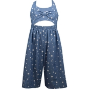 Bonnie Jean Little Girls Denim Goucho Length Jumpsuit