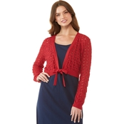 JW Tie Front Pointelle Cardigan