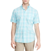 Chaps Easy Care Button Down Palm Print Shirt