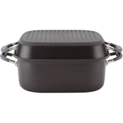 Meyer Anolon Nonstick 2-in-1 Deep Square Grill Pan and Square Roaster Set