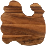 Paula Deen 12 in. x 12 in. Rooster Cutting Board