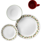 Corelle 16 Piece Dinnerware Set Holiday Berries