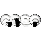 Corelle Black and White 16 pc. Dinnerware Set