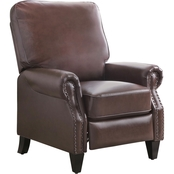 Abbyson Living Carla Leather Pushback Recliner