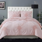 Christian Siriano Georgia Rouched 3 pc. Comforter Set