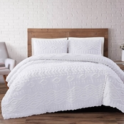 Brooklyn Loom Jameson Tufted Chenille Duvet Cover 3 pc. Set