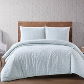 Brooklyn Loom Chicago Woven Diamond Duvet Cover, 3 pc. Set